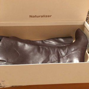 Naturalizer High Calf Boot Brown Leather Size 8.5